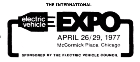 May Meeting: Electric Vehicles of the 70s